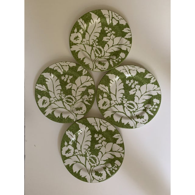 Roscher Ambiance Collection Green Dinner Plates - Set of 4 For Sale - Image 9 of 9