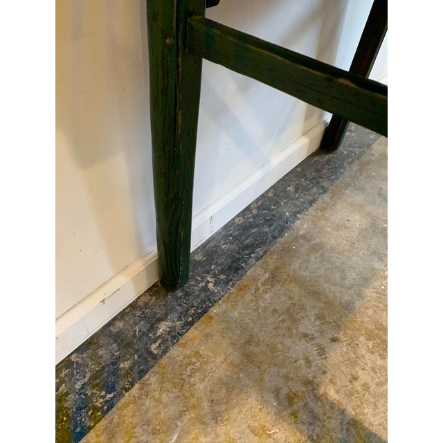 Vintage Asian Console Table in Green For Sale - Image 11 of 12