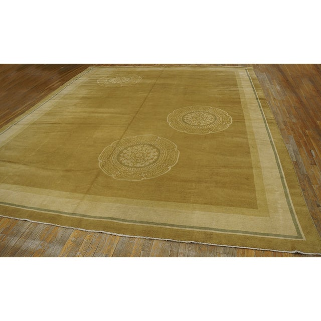1920s Antique Chinese Art Deco Rug For Sale - Image 5 of 12