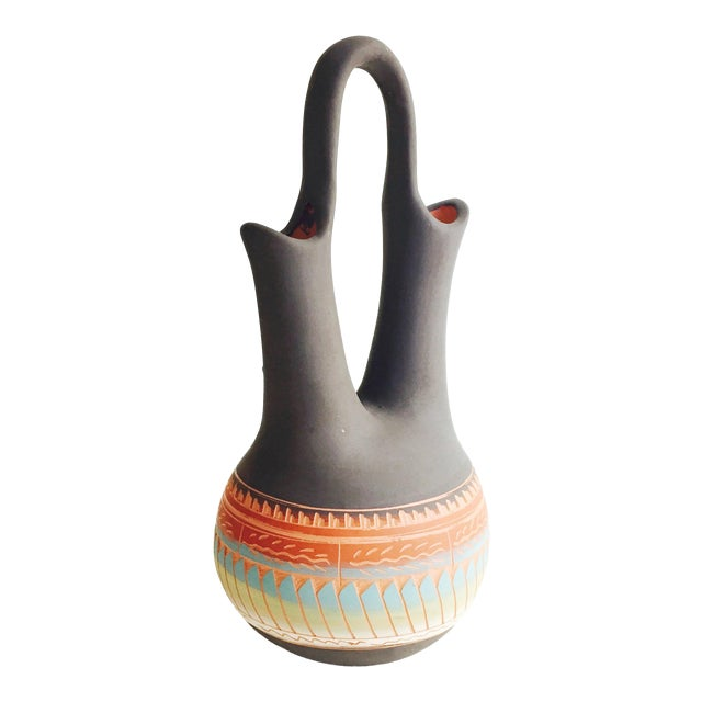 Vintage Navajo Pottery Wedding Vase - Image 1 of 7