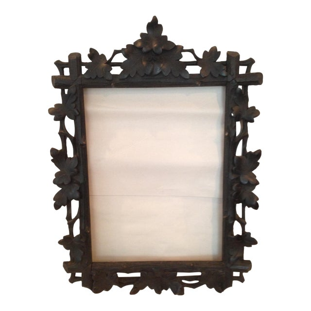 Antique Carved Black Forest Frame - Image 1 of 9