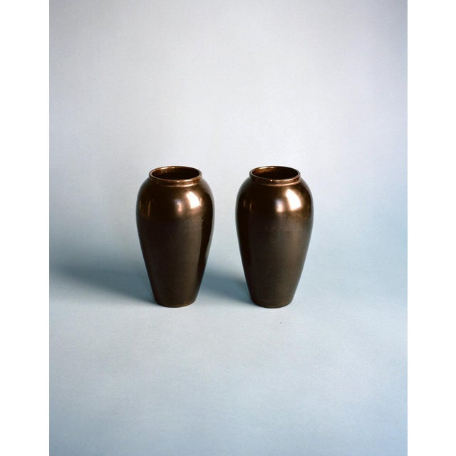 Jean-Baptiste Gaziello Pair of Vases 1930s For Sale - Image 4 of 4