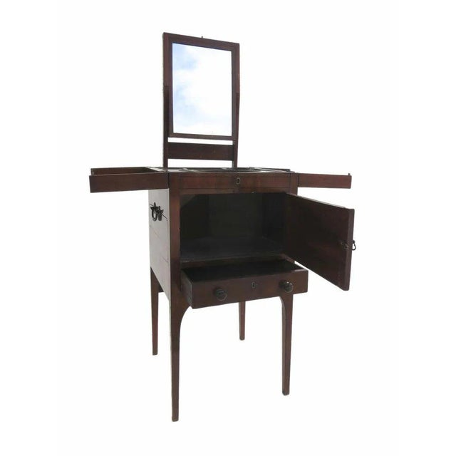 English Mahogany Enclosed Lift Top Dressing Stand For Sale In Denver - Image 6 of 10