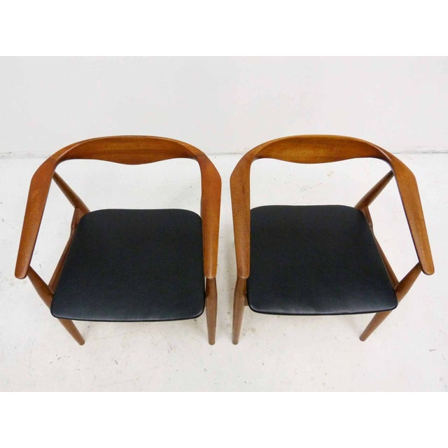 Danish Barrel Teak Armchairs - A Pair - Image 2 of 10