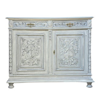 Traditional French Louis XVI-style Painted Buffet