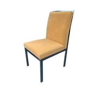 1970s Milo Baughman D. I. A. Chrome Dining Accent Chair For Sale