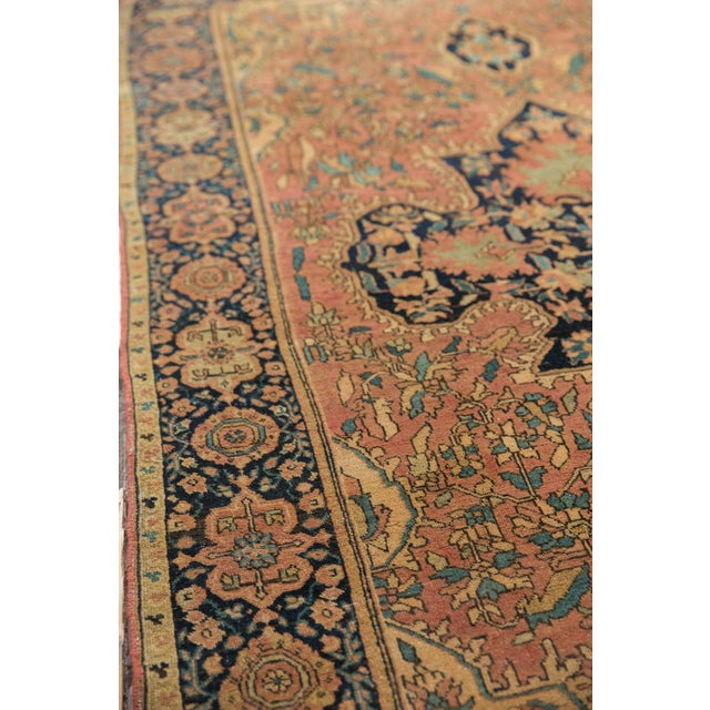 "Antique Farahan Sarouk Persian Rug - 3'10"" X 6'6"" For Sale In New York - Image 6 of 13"