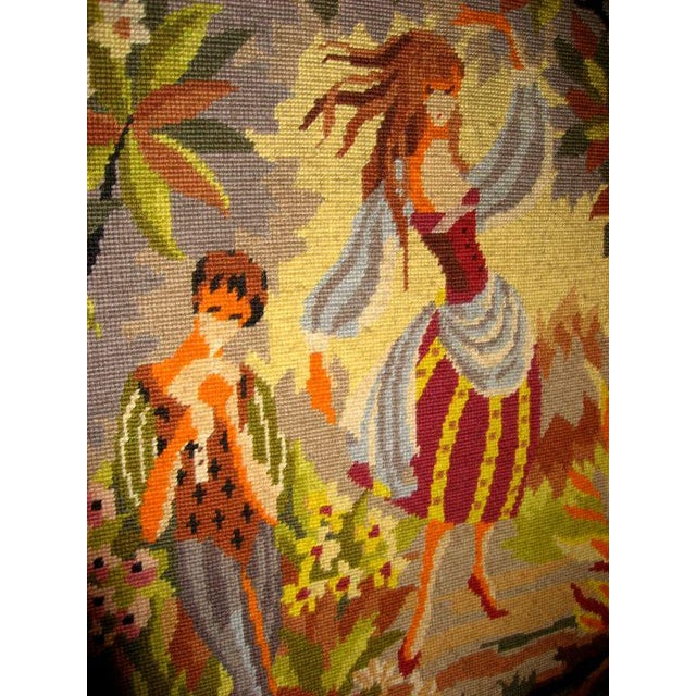 Mid-Century Modern French Mid-Century Hand-Woven Tapestry With Rural Scene For Sale - Image 3 of 4