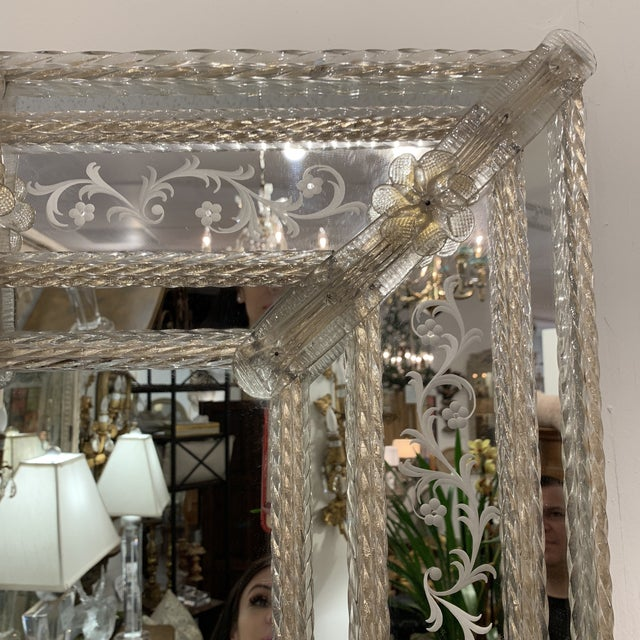 Vintage Murano Mirror For Sale - Image 4 of 13