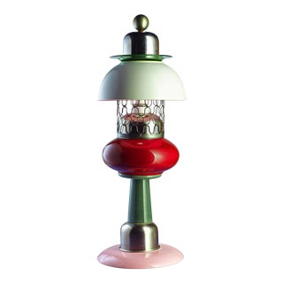 Memphis Style Handmade Accent Table Lamp For Sale