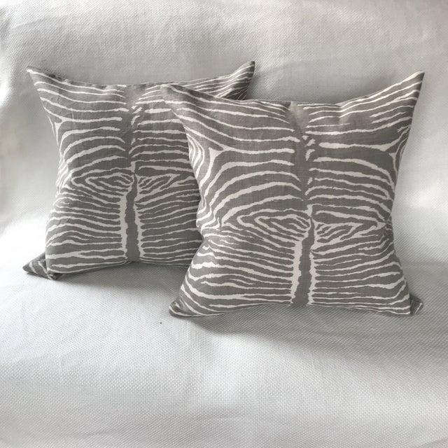 2010s Brunschwig & Fils Le Zebre Pillows - A Pair For Sale - Image 5 of 5