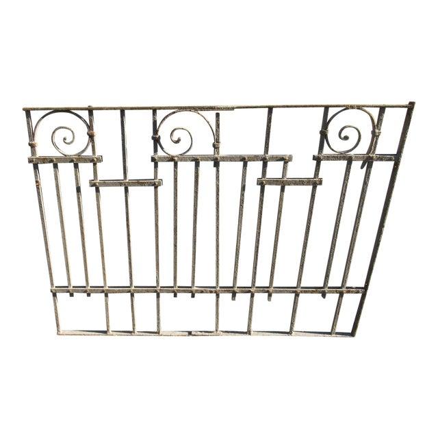 Antique Victorian Iron Gate Window Garden Fence Architectural Salvage Door #025 For Sale