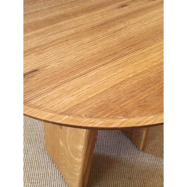 Contemporary White Oak Side Table - Image 5 of 5