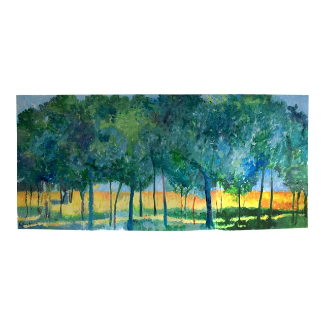 """Stand of Trees"" Acrylic Painting - Image 1 of 7"