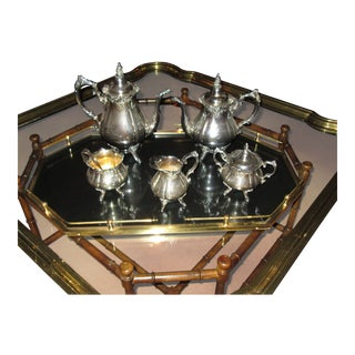Wallace Grande Baroque Silverplate Tea Coffee Set For Sale