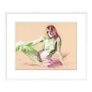 Figure 2 by David Orrin Smith in White Frame, Medium Art Print For Sale