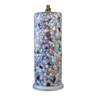 Tall Charming Mosaic Lamp For Sale