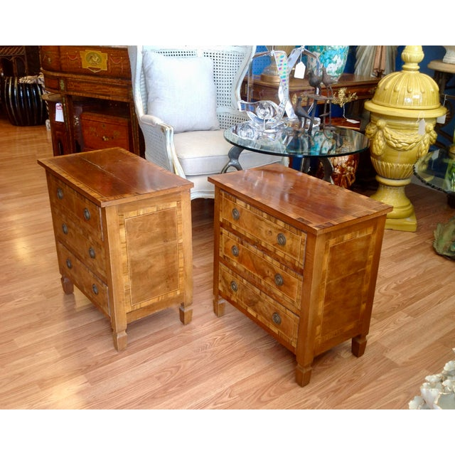 Italian Pair of Italian Chair Side Chests For Sale - Image 3 of 13