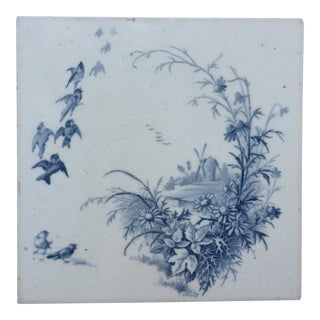 Antique French Gien Tile For Sale
