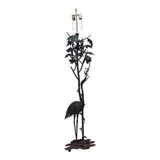 French Art Nouveau Bronze Floor Lamp For Sale