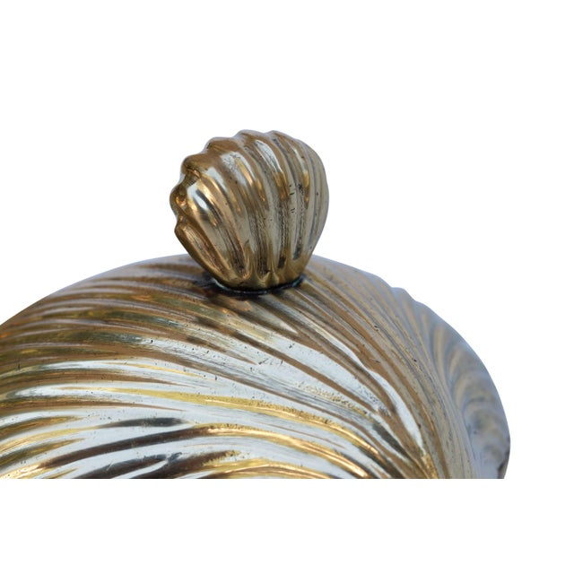 Late 20th Century Brass Apple Shaped Trinket Boxes, Set of 3 For Sale - Image 5 of 6