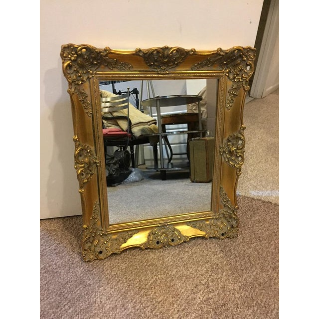 1970's Vintage French Gilded Gold Framed Mirror For Sale - Image 10 of 10