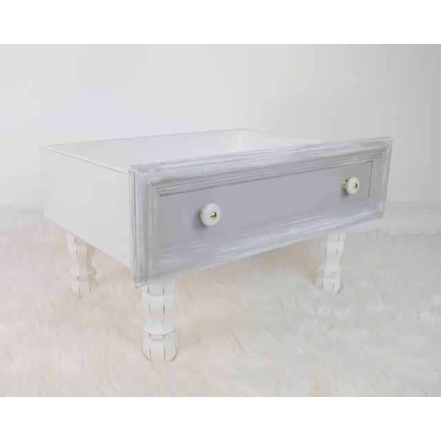Gray and White Mounted Drawer/Storage Box - Pet Bed For Sale - Image 12 of 12