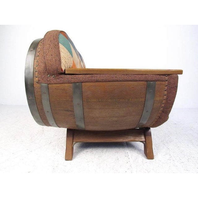 Rustic Wine Cask Loveseat For Sale - Image 5 of 9