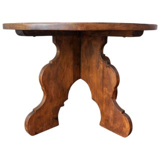 20th Century Rustic Round Coffee Table or Side Table