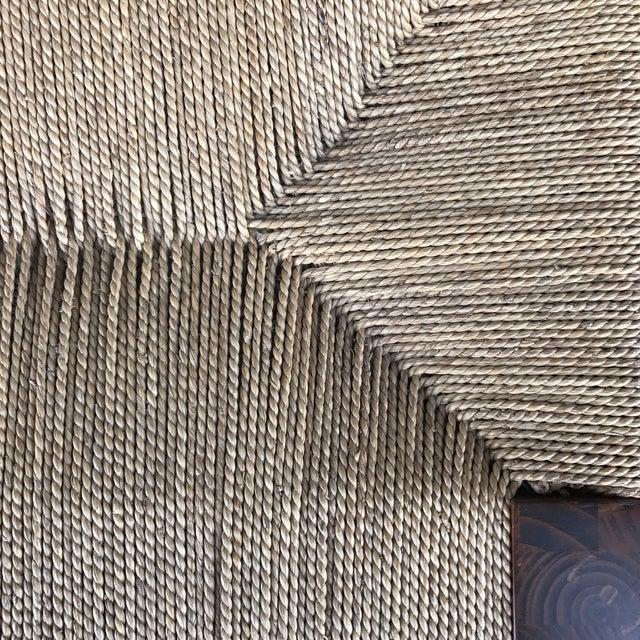 Woven Lampakanay Rope & Wood Bench - Image 6 of 7