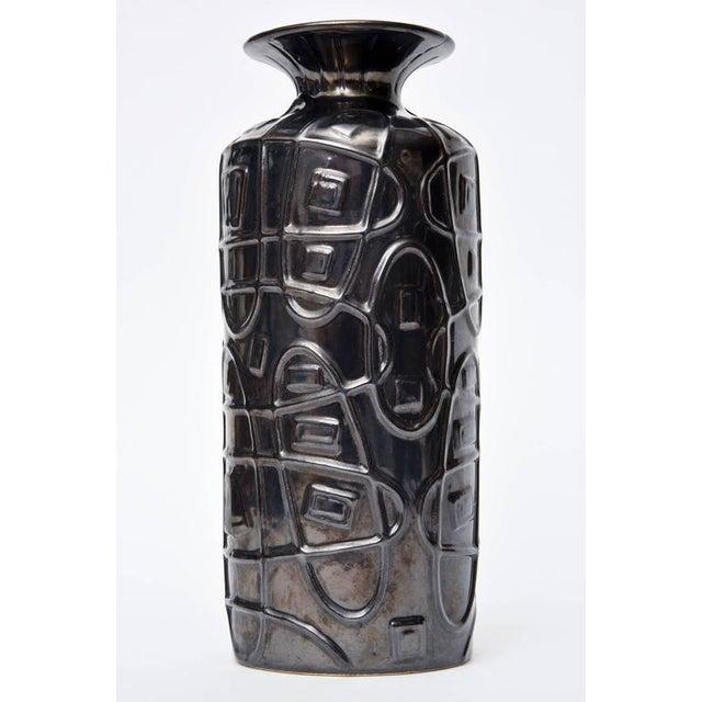 Distinguished Irridescent Gazed Sgraffiti German Modernist Ceramic