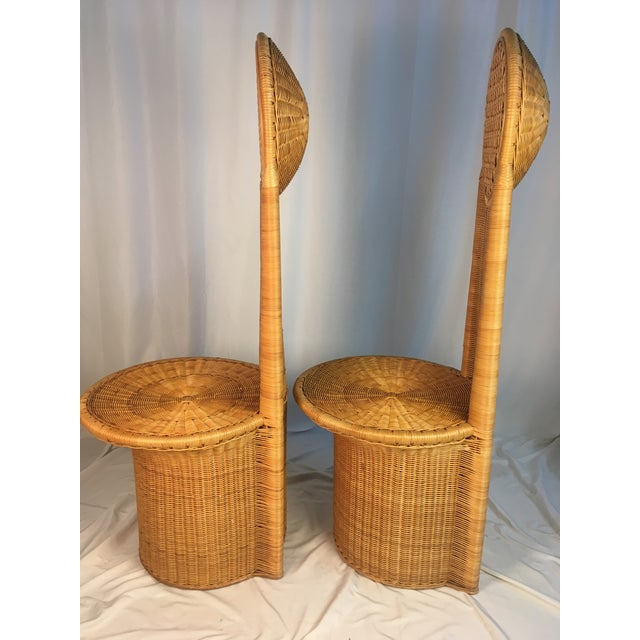 1980s Vintage Rattan Chairs - a Pair For Sale - Image 4 of 12