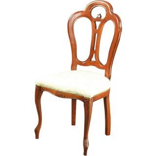 Large Italian New Rococo Chair Mahogany For Sale