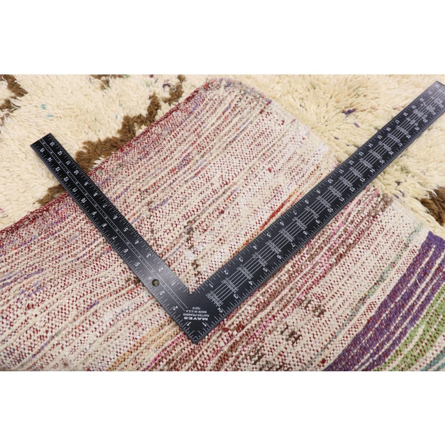 Mid 20th Century Vintage Berber Moroccan Azilal Rug - 03'07 X 04'09 For Sale - Image 5 of 10