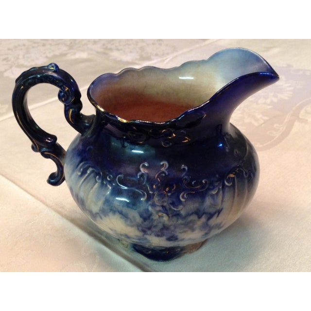 Antique Blue & White Porcelain Pitcher - Image 2 of 11
