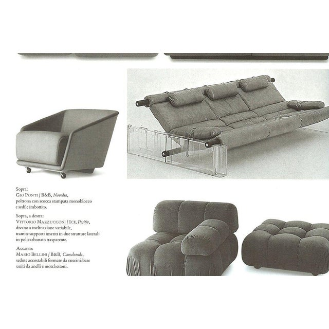"Italian Vittorio Mazzucconi ""Positiv"" Plexi and Leather Sofa For Sale - Image 3 of 11"