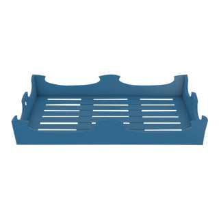 Oomph Ocean Drive Outdoor Console Tray, Blue For Sale