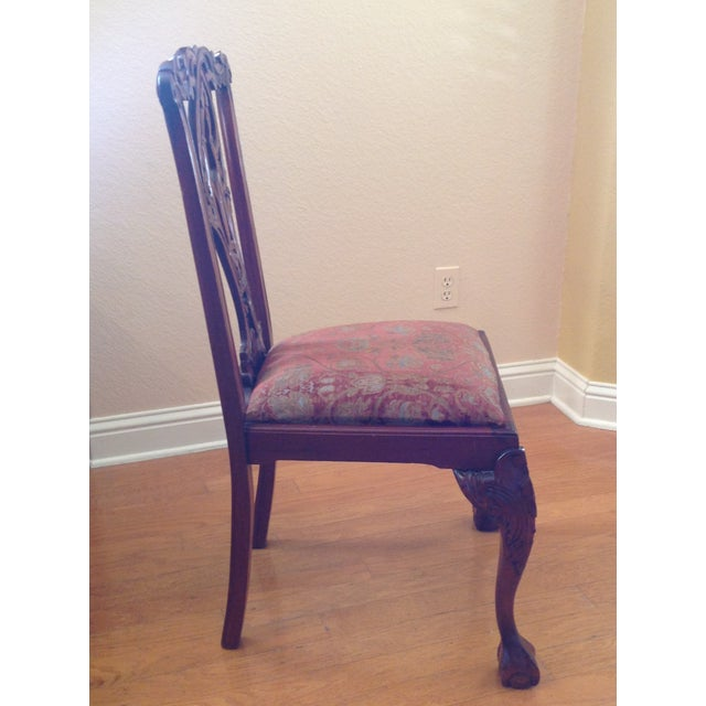 Late 20th Century Chippendale-Style Mahogany Dining Chairs - Set of 6 For Sale - Image 5 of 13