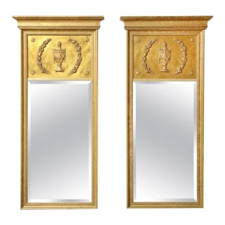 Giltwood Neoclassical Mirrors - A Pair For Sale