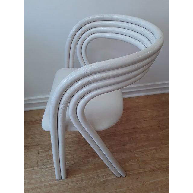 White White Painted Dutch Bentwood Armchairs by Jan Des Bouvrie for Rohé Noor - Set of 4 For Sale - Image 8 of 10