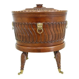Maitland Smith Mahogany Regency Style Cellarette W. Brass Liner For Sale