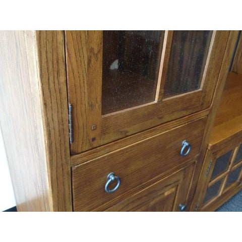 Solid Wood Entertainment Center - Image 5 of 7