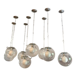 Globe Chrome Wire Light Fixtures - Set of 8 Miconos Suspension | Artemide