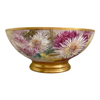 Antique Limoges Porcelain Punch Bowl For Sale
