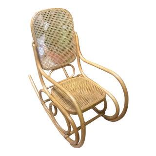 1970s Vintage Thonet Stendig Rocking Chair For Sale