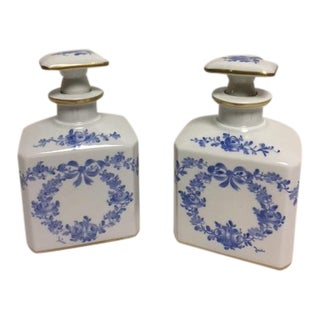 Vintage Limoge Scent Bottles for Saks Fifth Avenue - A Pair
