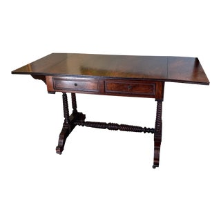 Rosewood Drop-Leaf Sofa Table For Sale