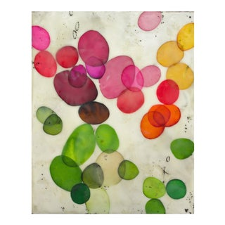 "Gina Cochran Original ""Bloom No. 2"" Encaustic Collage Painting"
