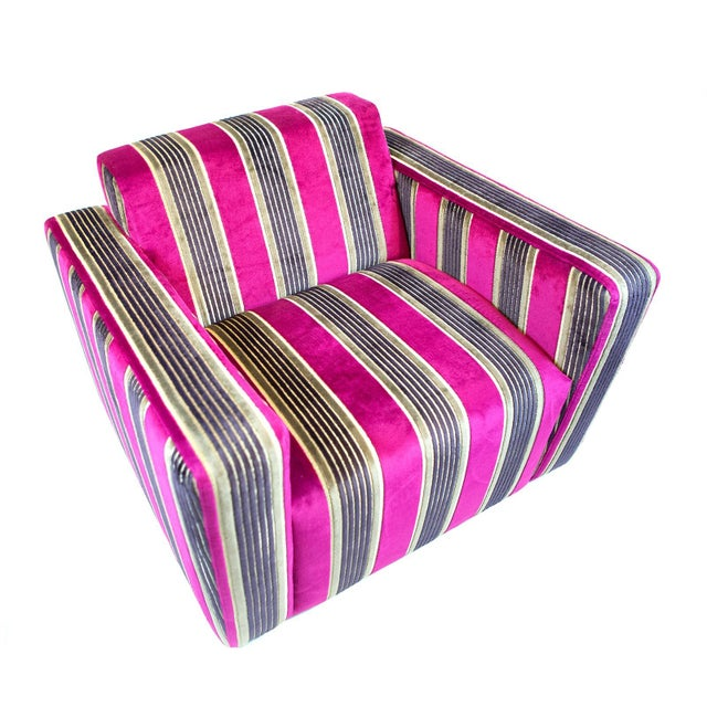 British Airways First Class Striped Club Chair - Image 7 of 10
