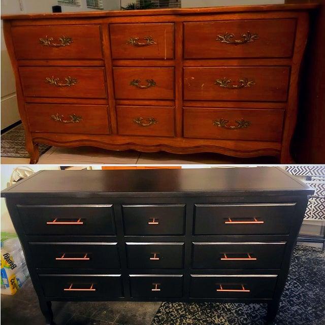 Drexel Drexel Black Dresser For Sale - Image 4 of 5